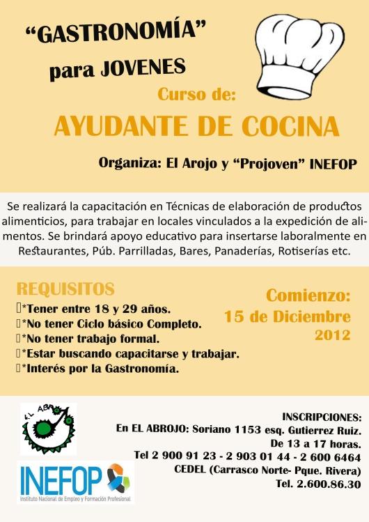 Noviembre 2012 blog de vida y educaci n p gina 3 for Cursos de ayudante de cocina