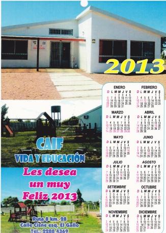 2012 Caif Calendario