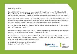 invitacion ONGS 24 DE ABRIL