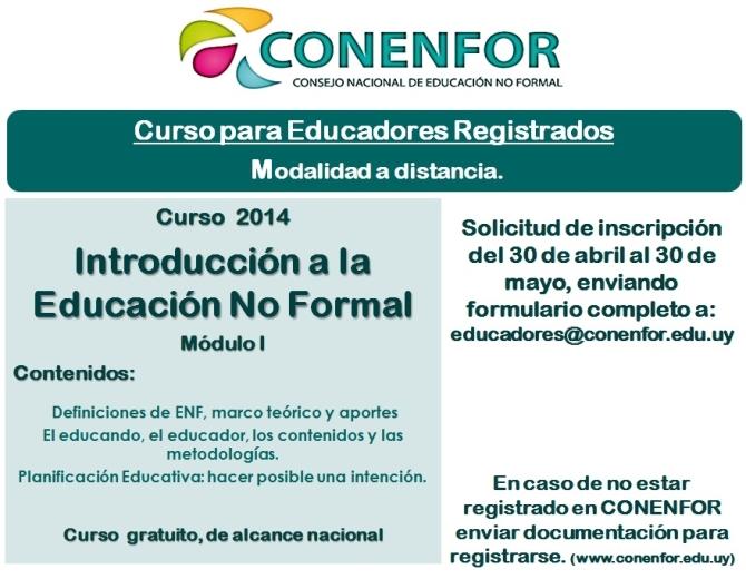 1er. Curso para Educadores registrados