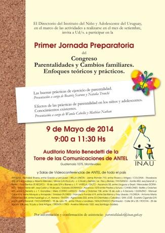 INAU Invitacion 1er Jornada Parentalidades