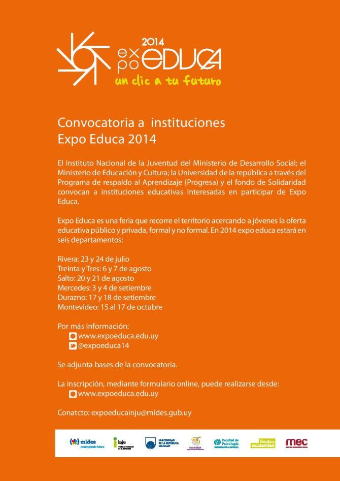 Expo Educa 2014 - Convocatoria a instituciones
