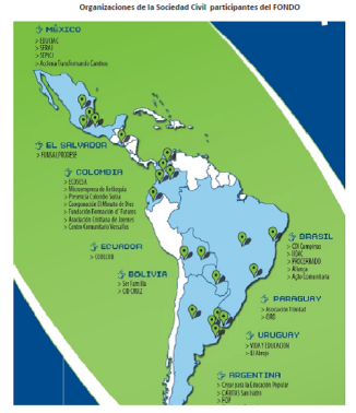 Fondo Juventud mapa