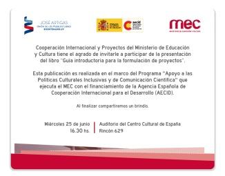 invitacion presentacion libro cooperacion