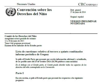 CRS Preguntas al Informe Uruguay