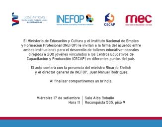 invitación_Inefop_MEC