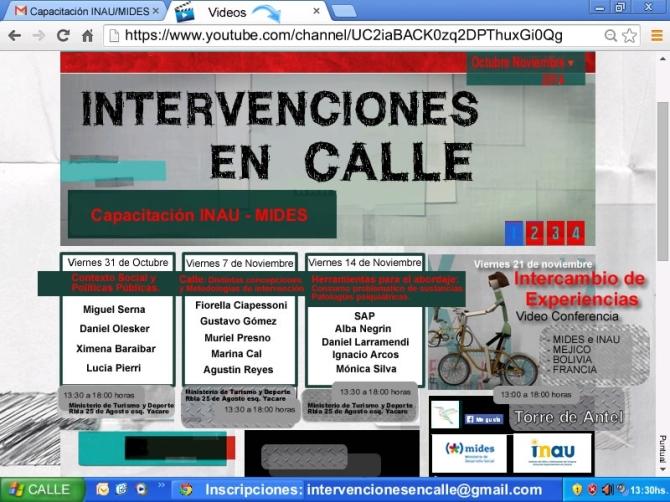 Afiche Capacitacion Intervenciones en calle
