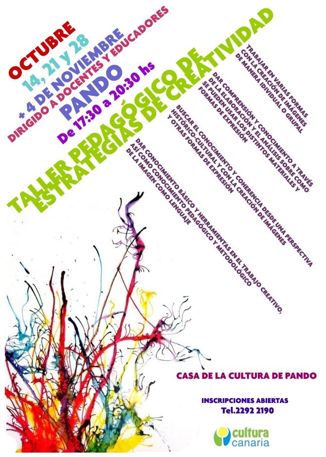 Afiche taller pedagogico Pando