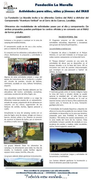 actividades con INAU - invitación2