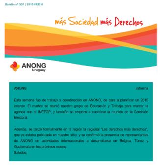 anong Boletín nº 307 20150206