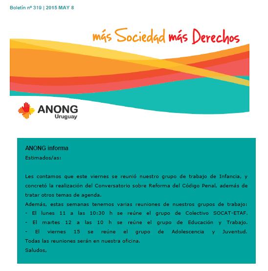 anong - Boletín nº 319