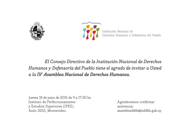 INDDHH - Invitacion