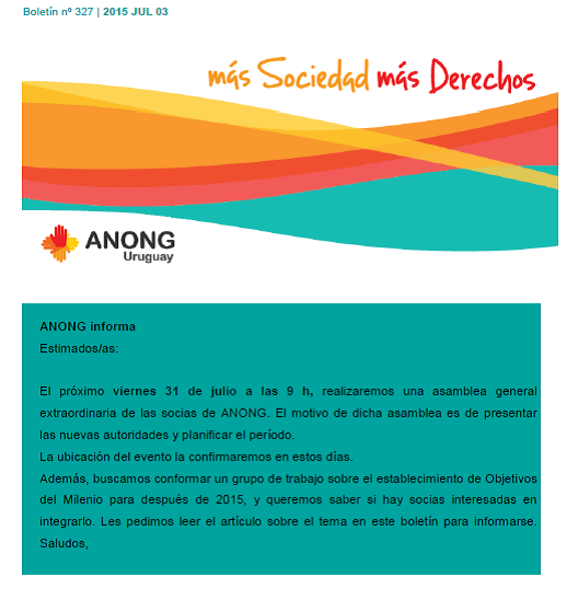 anong - Boletín nº 327