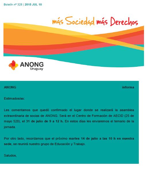 anong - Boletín nº 328