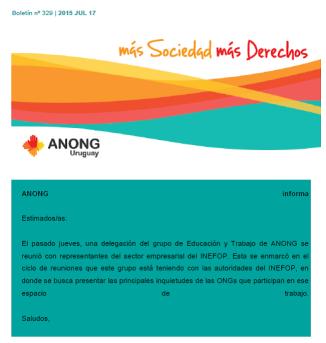 anong - Boletín nº 329