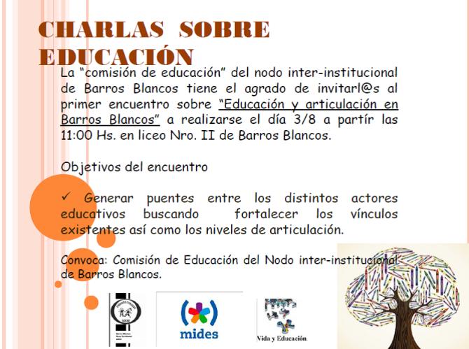 CHARLAS  SOBRE  EDUCACION