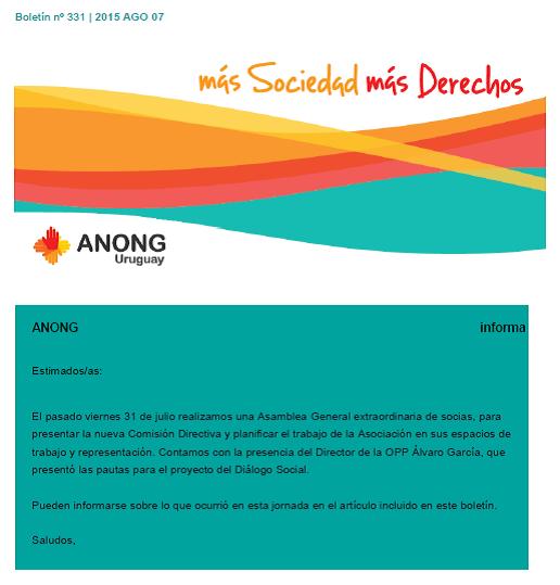 anong - Boletín nº 331