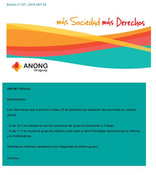 anong - Boletín nº 337