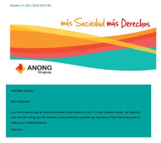 anong - Boletín nº 338