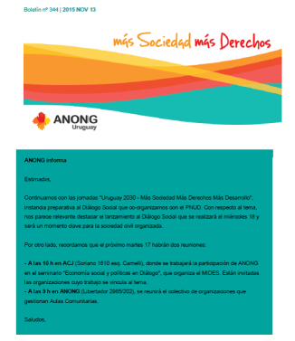 anong - Boletín nº 344
