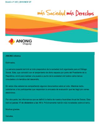 anong - Boletín nº 345