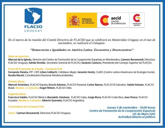 FLACSO invitacion 5 de noviembre