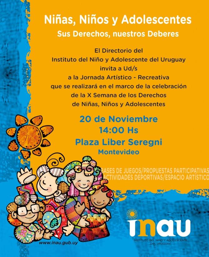 INAU INVITACION FIESTA PLAZA LIBER SEREGNI 20 de Noviembre