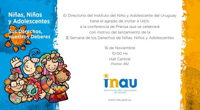 INAU INVITACION SEMANA DE LOS DERECHOS