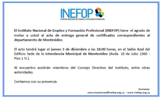 inefop certificados 2015