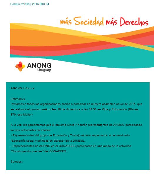 anong - Boletín nº 346