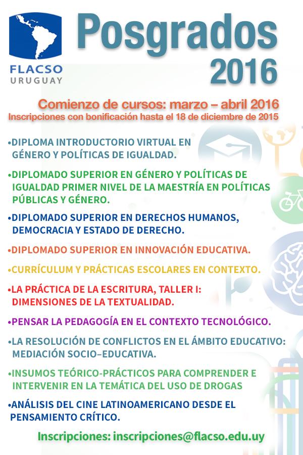 Flacso Uruguay - Posgrados 2016