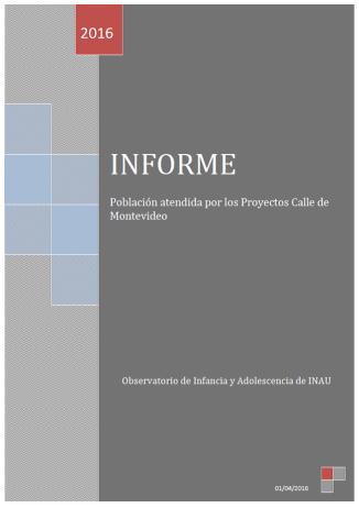 Informe Proyectos calle de Montevideo