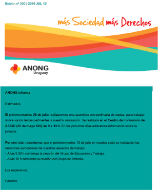 anong - Boletín nº 360
