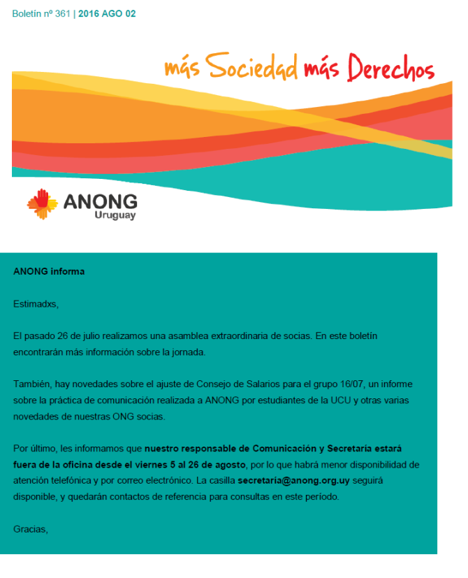 anong - Boletín nº 361