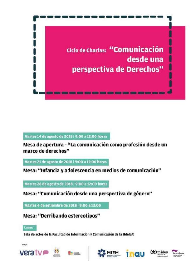 """180814 – 14, 21, 28 agosto y 4 setiembre – Ciclo """"Comunicación desde ..."""